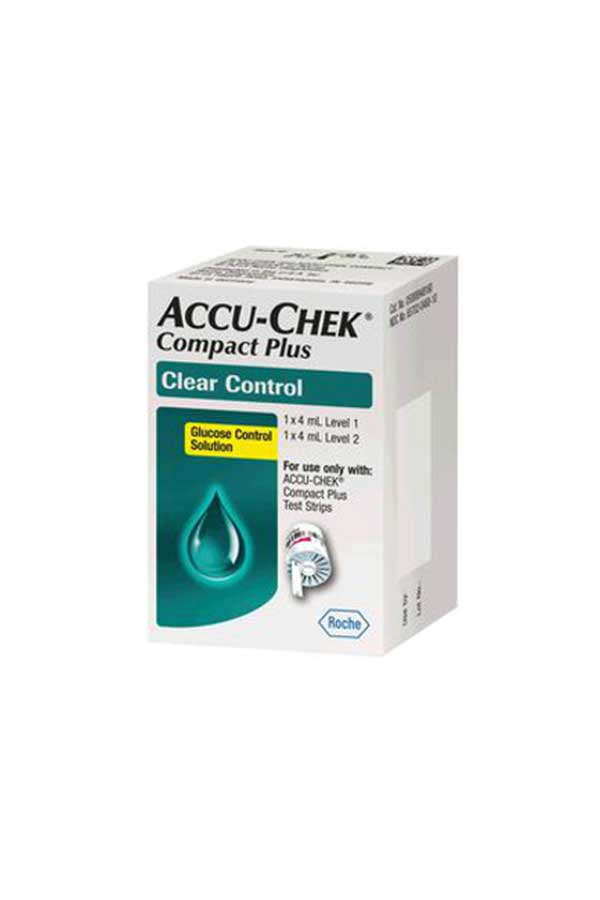 ACCU-CHEK COMPACT PLUS CONTROL SOLUTION HIGH/LOW LEVEL 2 4mL