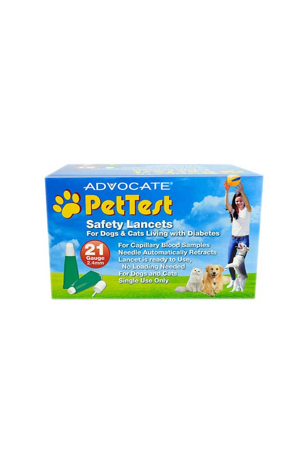 ADVOCATE PETTEST SAFETY LANCETS 100ct. 21G x 2.4mm