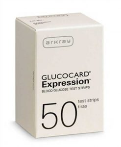 ARKRAY GLUCOCARD EXPRESSION TEST STRIPS 50ct.