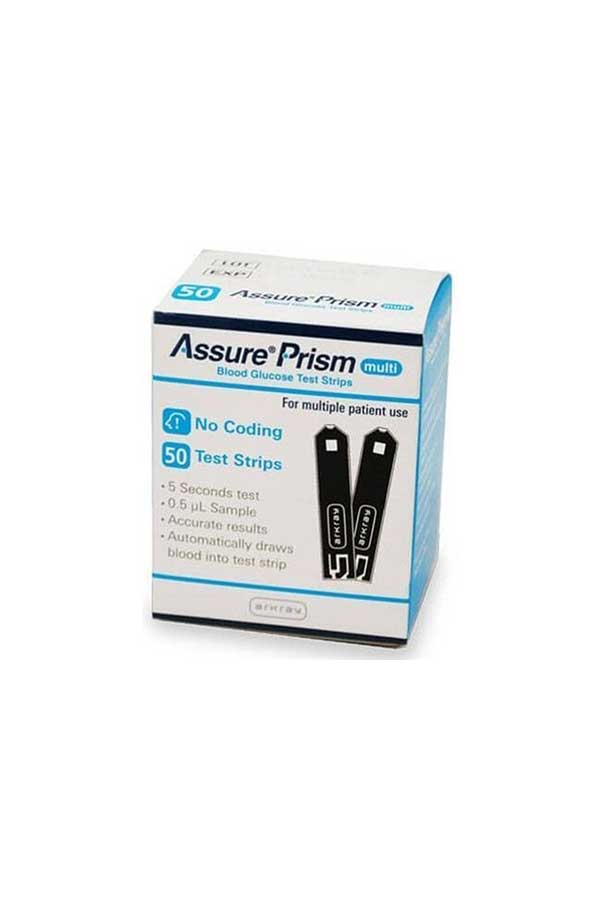 ARKRAY ASSURE PRISM MULTI TEST STRIPS 50ct. & 100ct.