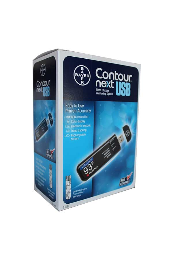 BAYER CONTOUR NEXT USB GLUCOSE METER KIT