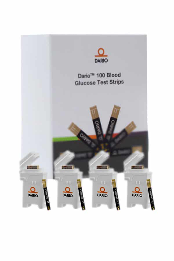 DARIO TEST STRIPS 100ct. (4 Cartridges)