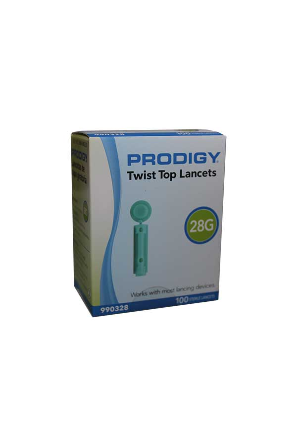PRODIGY TWIST TOP LANCETS 28G 100ct.