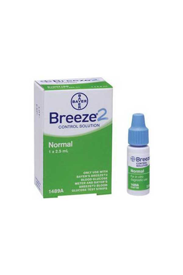 BAYER BREEZE2 CONTROL SOLUTION NORMAL LEVEL 2.5ml