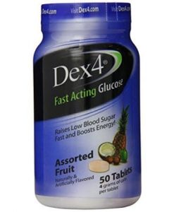 Dex4 Glucose Tablets 50 count Assorted Fruit Flavor