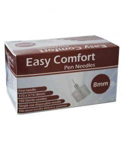 Easy-Comfort-Insulin-Pen-Needles-100-count-31g-5.16-in-8-mm