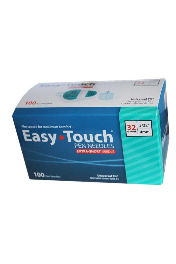 EasyTouch Insulin Pen Needles 100 count 32g 5/32